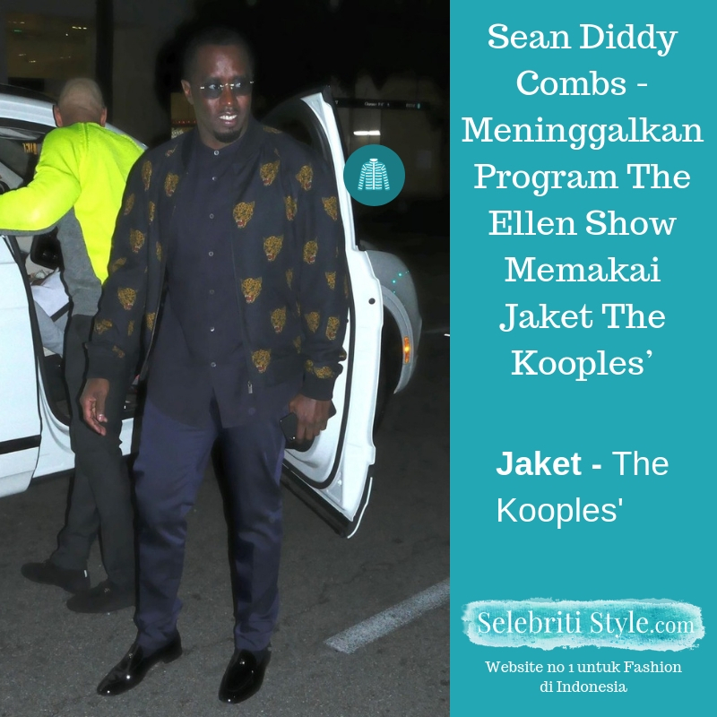 Highlight – Sean Diddy Combs – Meninggalkan Program The Ellen Show Memakai Jaket The Kooples'