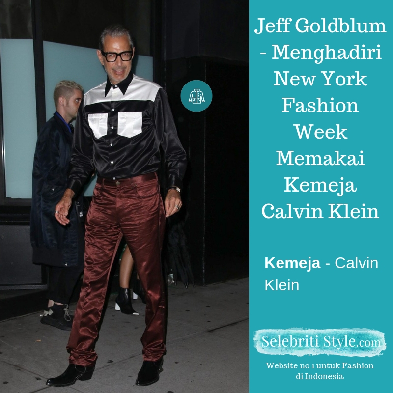 Highlight – Jeff Goldblum – Menghadiri New York Fashion Week Memakai Kemeja Calvin Klein